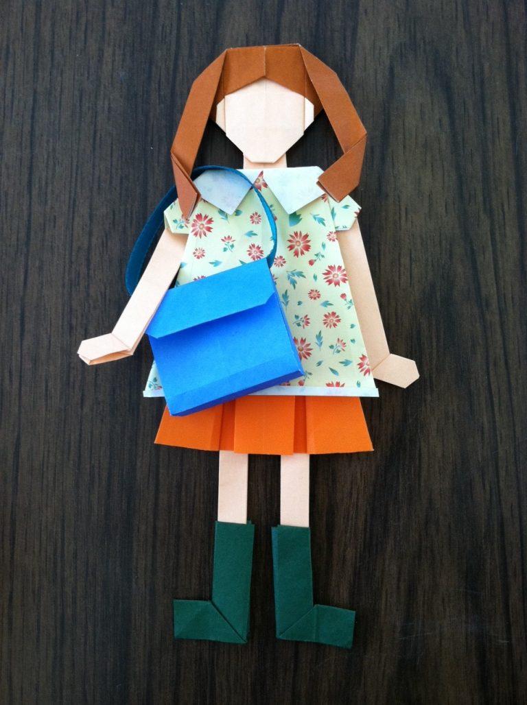 Поделки куклы с оригами 36