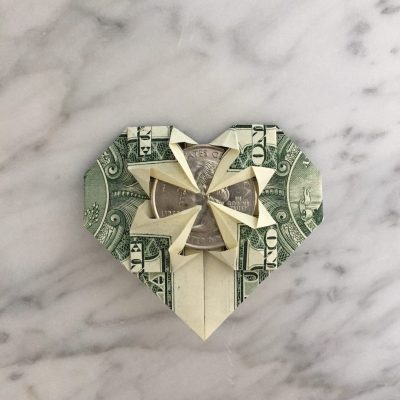 dollar heart with quarter
